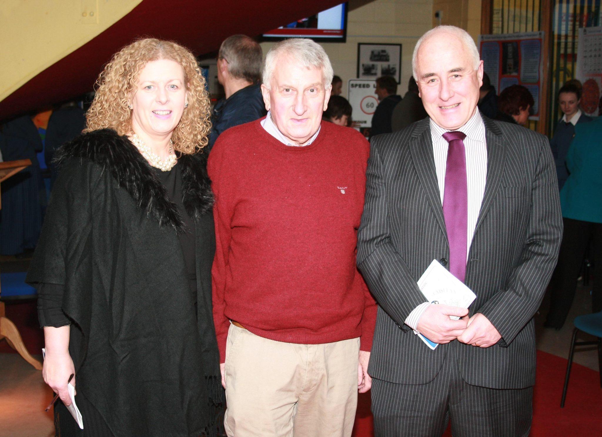 Principal Vourneen Gavin Barry, with former Principals Richard Barry and Padraig Flanagan