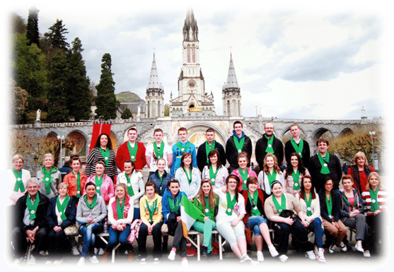 Group of Desmond College Students who went to Lourdes France from Newcastle West Limerick
