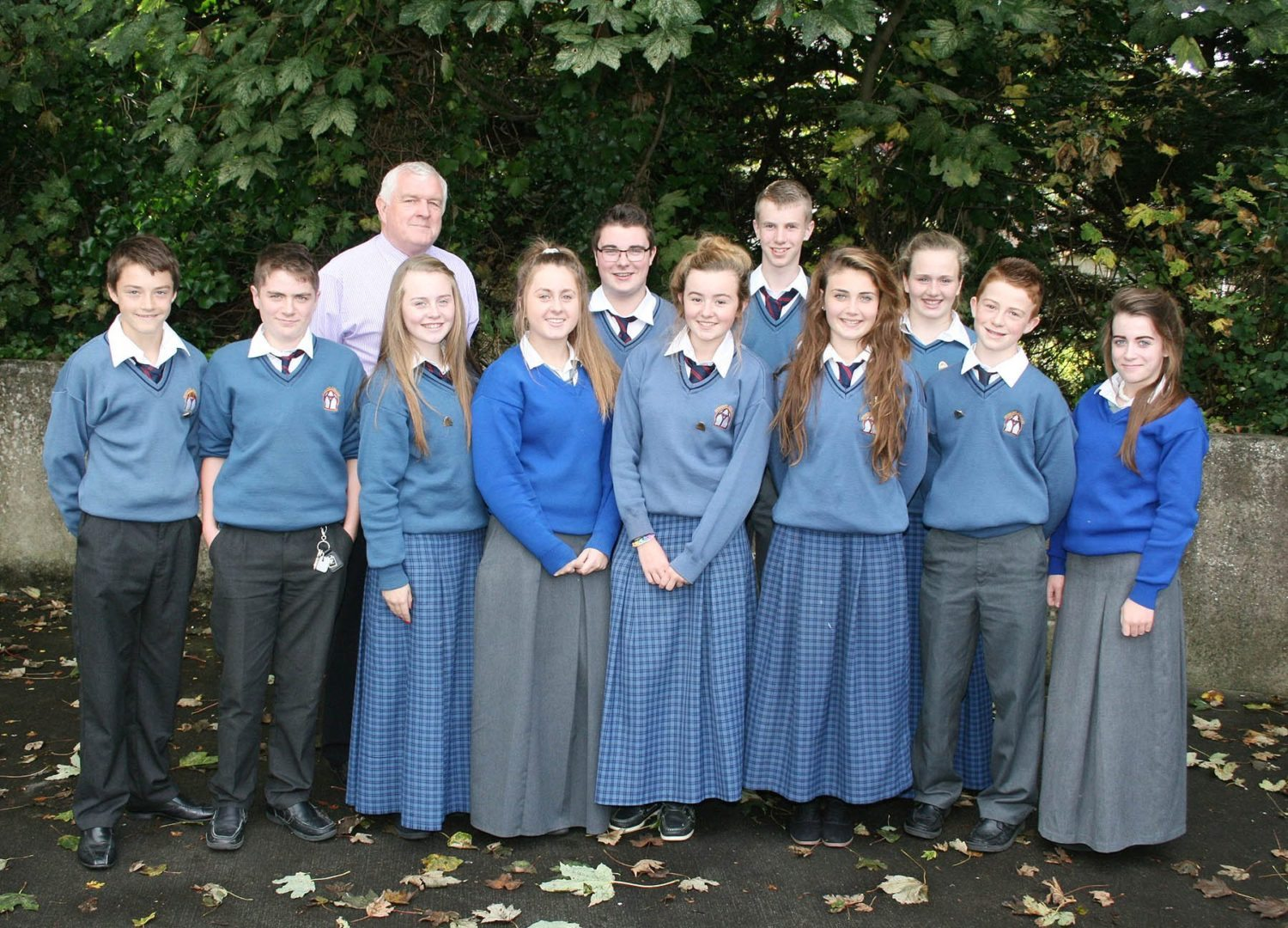 Students from Desmond College and the Gaelcholaiste Ui Chonba who are on the Student Council 2014-2015