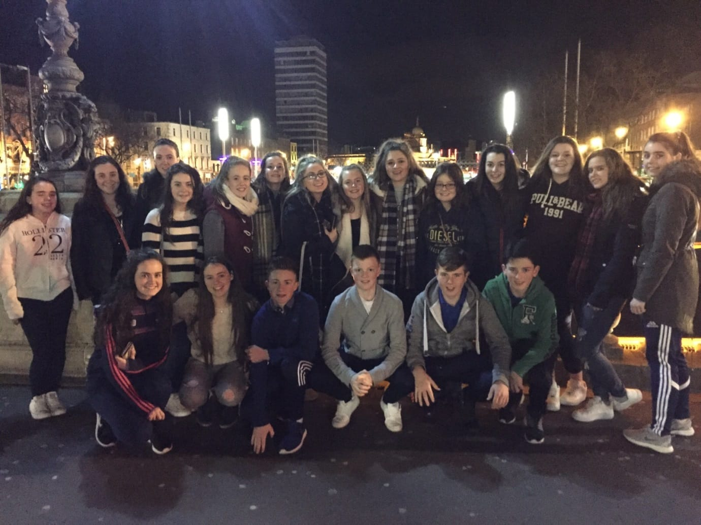 Some of the Desmond College students that attended the BT Young Scientist Competition in the RDS in January 2016