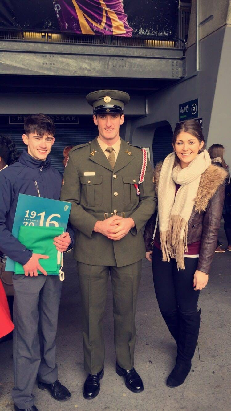 March 2016: the 1916 Flag Collection Ceremony in Croke Park for Post Primary Schools