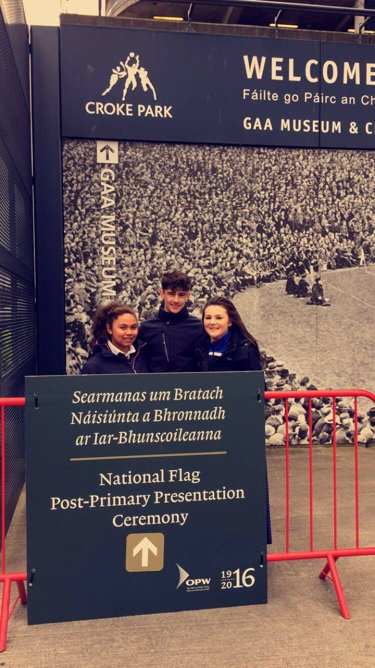 March 2016: Desmond College at the 1916 Flag Collection Ceremony in Croke Park