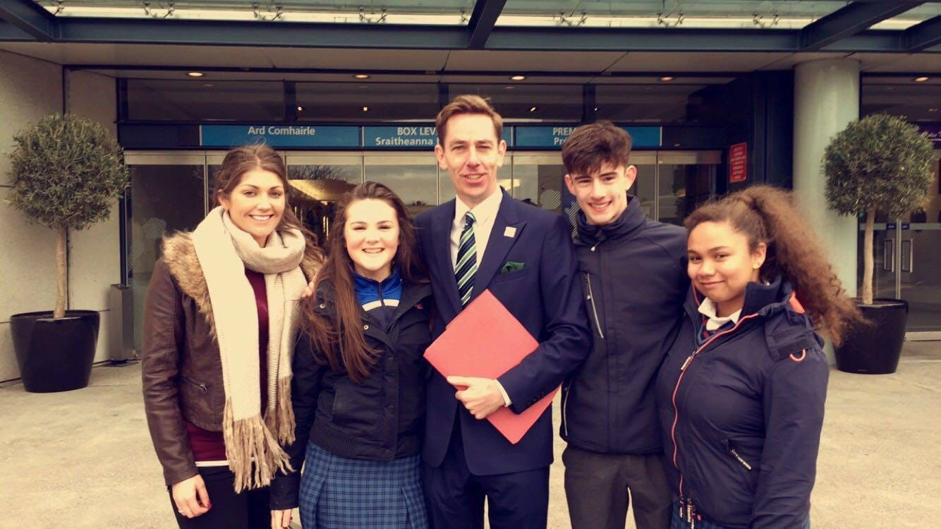 March 2016: Desmond College attended the Flag Collecting Ceremony in Croke Park and Met Ryan Tubridy