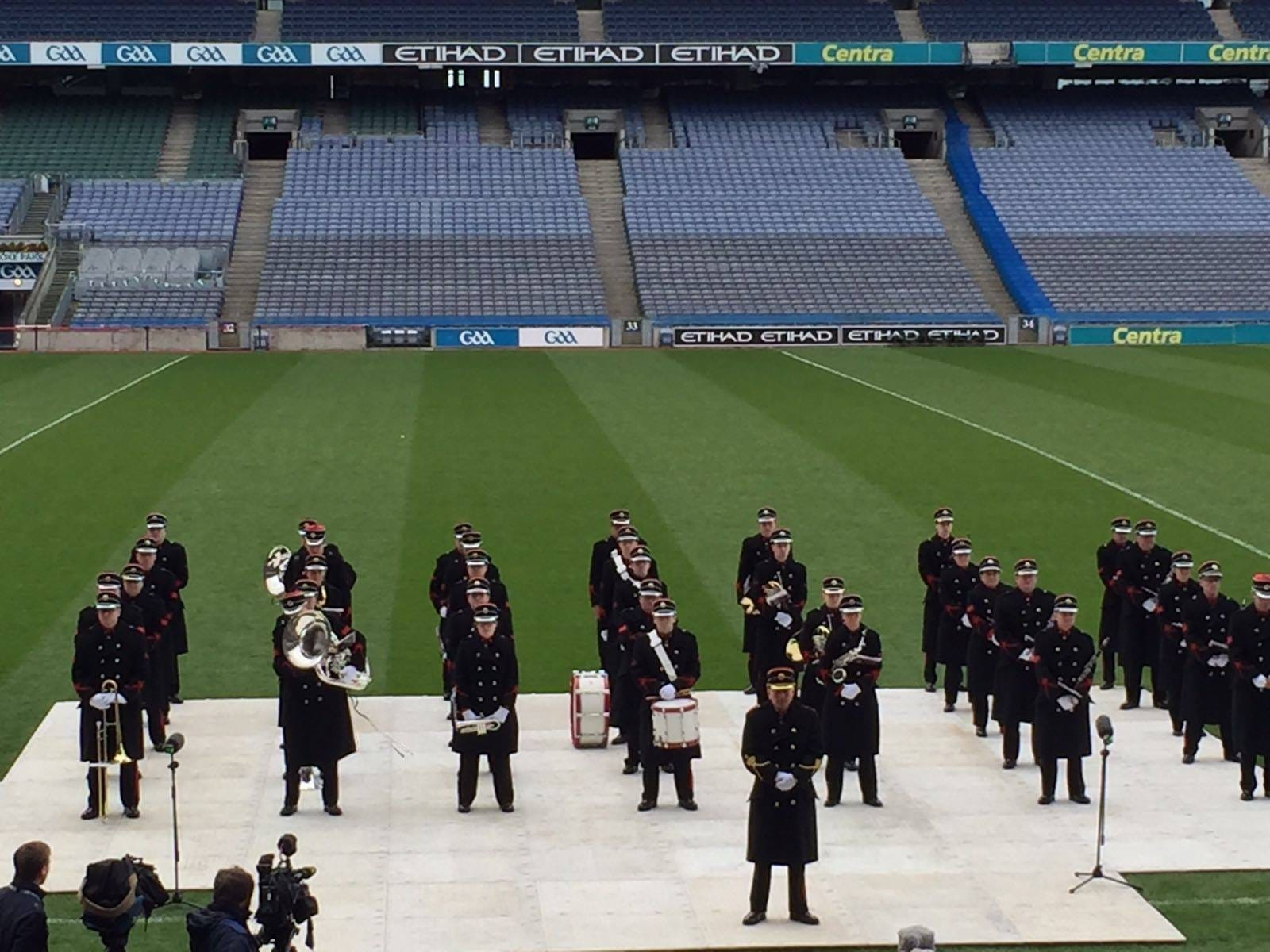 March 2016: Flag Collection Ceremony at the 1916 Commemoration Service in Croke Park