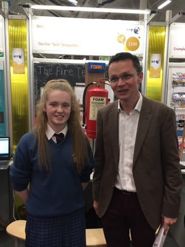 Jan 2017: Kayla McMahon with Patrick O'Donovan, Minister of State for Sport and Tourism