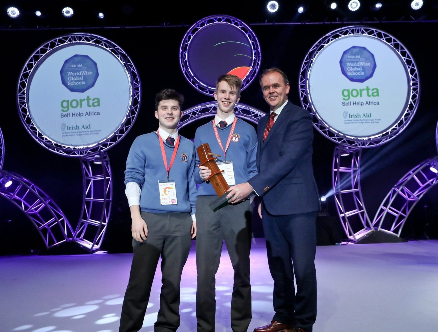 Jan 2017: Diarmuid Curtin and Jack O'Connor receiving their award from Science for Development.