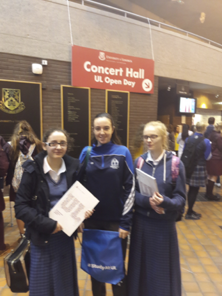 Oct 2017: Desmond College Students travel to the college open days in UL, LIT and Mary Immaculate
