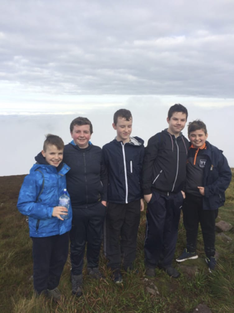 Oct 2017: The First Years and Transition Years go on a hiking trip in the Ballyhouras