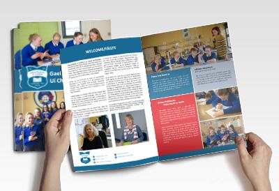 View Gaelcholáiste Uí Chonba Brochure: Image by 4schools.ie, edited by NTES
