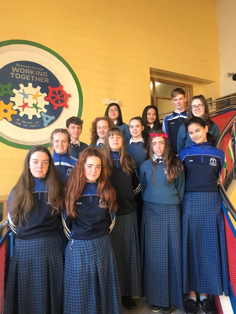 22 Oct 2018: Desmond College is proud to announce that 7 projects, involving 13 students, is in the 2019 BT Young Scientist Competition