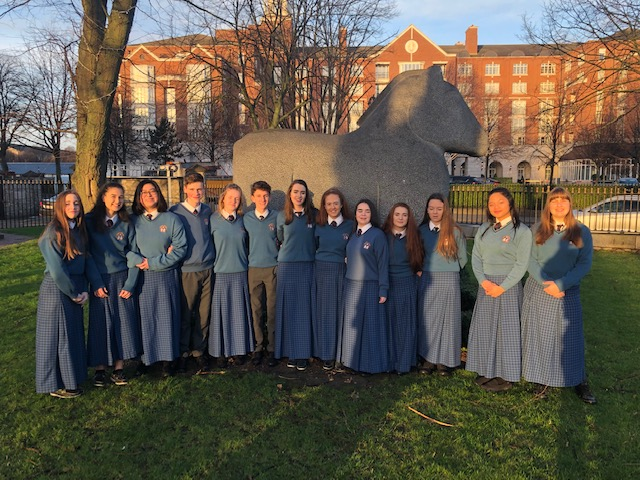 Jan 2019 : Desmond College Students photographed near the RDS in Dublin as they were about to enter the BT Young Scientist and Technology Exhibition 2019