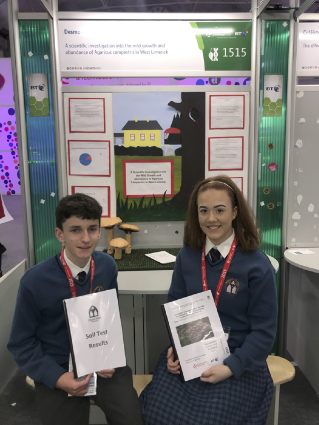 Victoria Brouder and Conor Fox Transition Year Students
