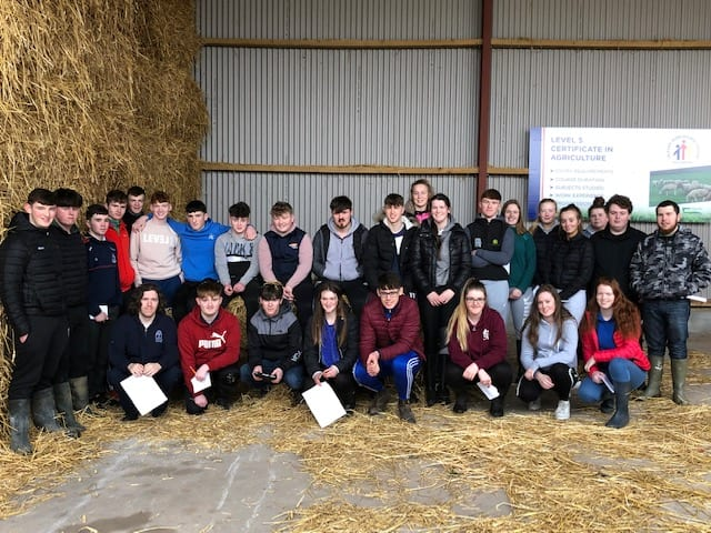 Desmond College Agricultural Science Students at a Farm Walk in Pallaskenry Agricultural College