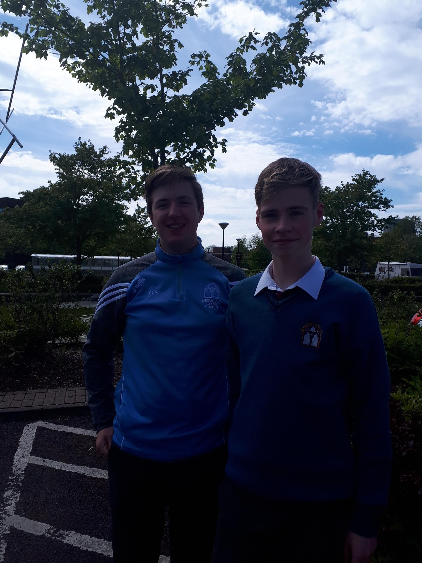 Cian Nolan and Matthew O'Connor who took part in the Teacher Taster Programme at the University of Limerick
