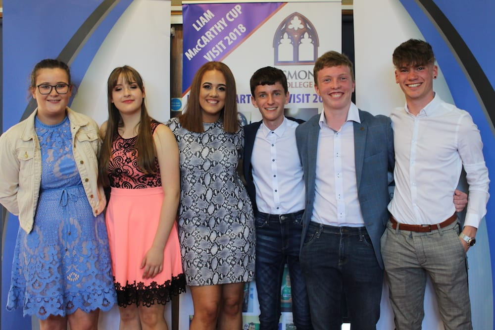 Alanis Leen, Marcelina Krzywdainska, Victoria Brouder, Conor Fox, Cormac Browne and Nathan Wright pictured at their TY Graduation