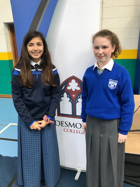 9th October 2019: Desmond College and Choláiste Students sharing their experiences