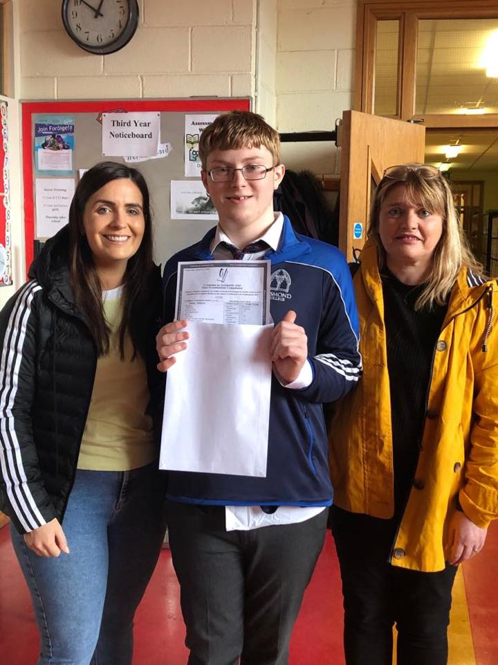 Desmond college student with family, delighted with results