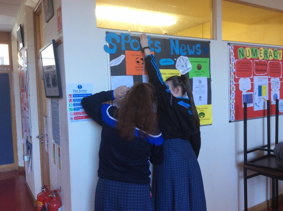 20th January 2020: First year and TY paired measuring during Numeracy Week