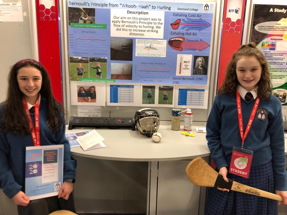 Desmond College students set up at the BT Young Scientists Exhibition 2020 in Dublin